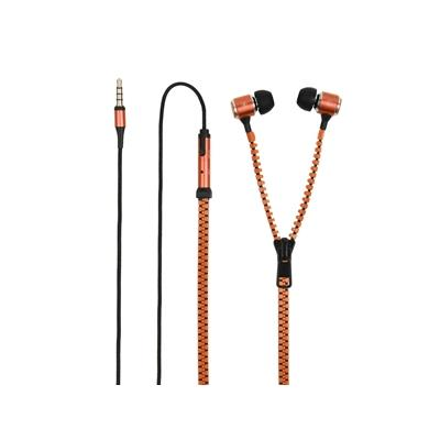 Caractéristiques du produit : - Type : Ecouteurs intra auriculaires zip - Marque : Muvit - Dimension : Dédié à tout appareil doté d´un jack 3.5 mm - Couleur : Orange - Télécommande avec micro - Bouton décrocher/raccrocher - Adaptateur jack 3,5mm inversé f