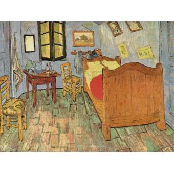 vincent van gogh poster reproduction la chambre coucher arles 1889 60x80 cm top prix. Black Bedroom Furniture Sets. Home Design Ideas