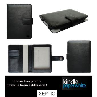 Housse luxe kindle paperwhite cuir style etui pochette for Housse kindle paperwhite