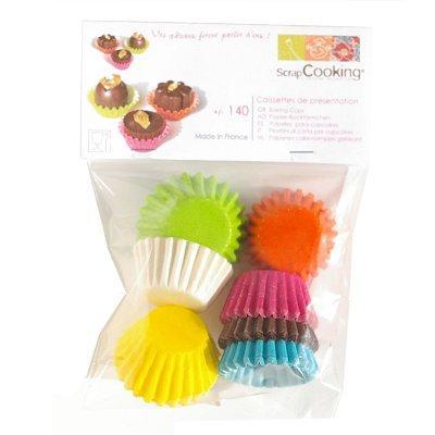 Image du produit ScrapCooking® - Moule en papier décoratif - Minis caissettes papier : Assorties x140