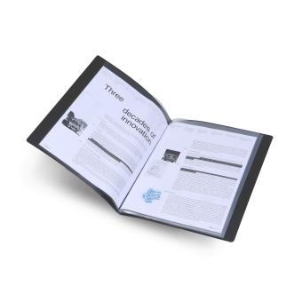 Prot ge documents poly vue avec 60 pochettes a4 noire top for Protege document 60 vues