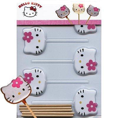 Image du produit ScrapCooking® - Moule à sucettes chocolat - Hello Kitty x5