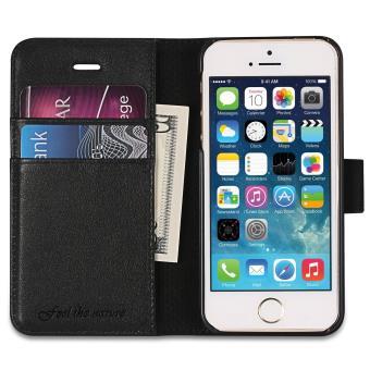 cabling etui iphone 5 5s se housse pochette en cuir v ritable portefeuille avec rangements de. Black Bedroom Furniture Sets. Home Design Ideas