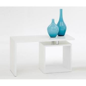 klara table basse avec rangement blanche achat prix fnac. Black Bedroom Furniture Sets. Home Design Ideas