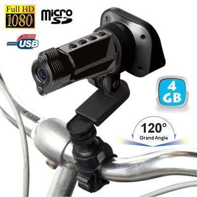 Cette caméra sport full HD 1080P 4 Go a été conçue pour se fixer où vous le souhaitez dans toutes vos activités sportives et de plein air. Avec sa résolution Full HD 1080P et son objectif grand angle 120° vous bénéficierez d´une qualité d´image exceptionn