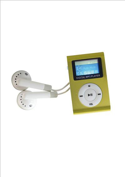 Baladeur MP3 2 Go avec mini-écran de contrôle. Compatible wma et wav, batterie li-ion écouteurs stéréo haute fidélité.