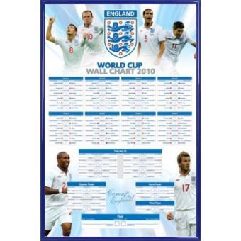 poster encadr football england f a coupe du monde calendrier 91x61 cm cadre plastique. Black Bedroom Furniture Sets. Home Design Ideas