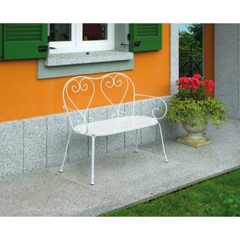 banc de jardin blanc l106 x h88 x p54 cm pegane achat prix fnac. Black Bedroom Furniture Sets. Home Design Ideas