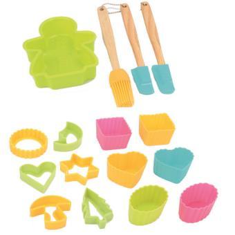 kit de cuisine patisserie pour enfant avec 16 accessoires