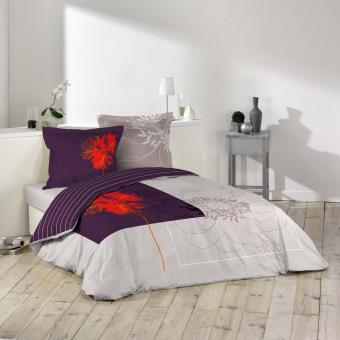 housse couette 100 coton 220x240 2 taies bosquet achat prix fnac. Black Bedroom Furniture Sets. Home Design Ideas