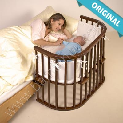 Berceau Lit bébé Cododo Babybay Original satine marronwenge 43x86 cm pour 252€