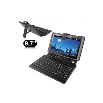 housse clavier universelle tablette tactile 9 7 pouces support noir achat prix fnac
