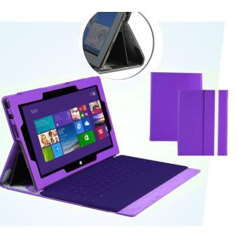 navitech housse 233 tui en simili cuir pour la tablette microsoft surface pro 2 ii violet achat