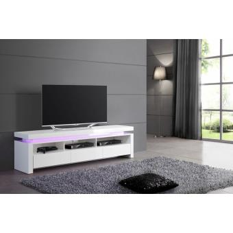 meuble tv lumineux belco 173 laqu blanc achat prix fnac. Black Bedroom Furniture Sets. Home Design Ideas
