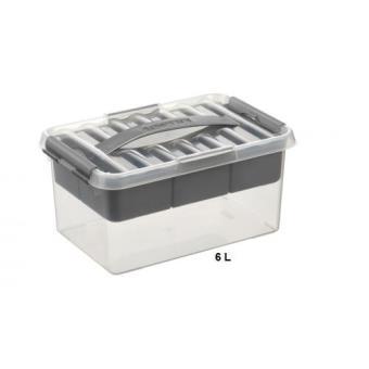 boite de rangement multifonctions avec compartiment amovible 6 litres achat prix fnac. Black Bedroom Furniture Sets. Home Design Ideas