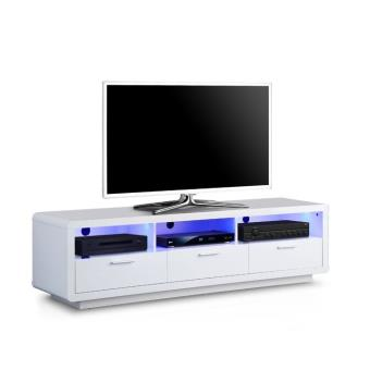 meuble tv lumineux belco 171 laqu blanc achat prix fnac. Black Bedroom Furniture Sets. Home Design Ideas