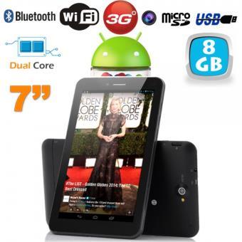 mp Tablette tactile G Dual SIM  pouces Core Bluetooth GPS Go w