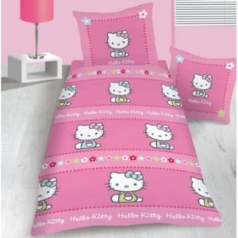 Housse de couette cassie hello kitty taie d 39 oreiller for Housse couette hello kitty