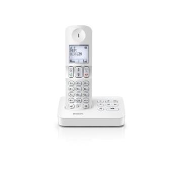 T�l�phone fixe PHILIPS D4051W BLANC SOLO AVEC REPONDEUR