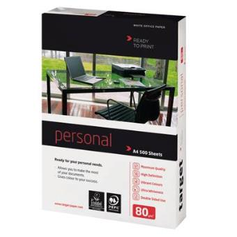 ramette papier target personal a4 80g blanc top prix fnac. Black Bedroom Furniture Sets. Home Design Ideas