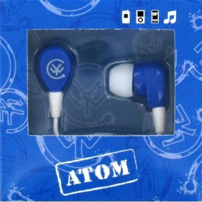 Écouteurs intra-auriculaires color your world by urbanz - atom bleus