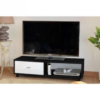 oliver meuble tv 112 cm chene sabl et noir brillant achat prix fnac. Black Bedroom Furniture Sets. Home Design Ideas