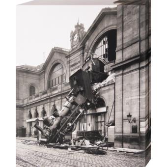 Trains poster reproduction sur toile tendue sur ch ssis accident ferroviaire la gare - Magasin bricolage montparnasse ...