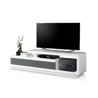 meuble tv design belco 160 laqu gris achat prix fnac. Black Bedroom Furniture Sets. Home Design Ideas