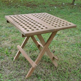 table basse pliante carr e en teck 50x50 cm bali achat prix fnac. Black Bedroom Furniture Sets. Home Design Ideas
