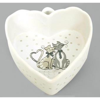 Ramequin en forme de coeur d coration chats panier for Deco en forme de coeur