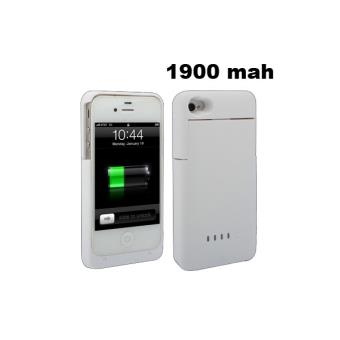 batterie coque iphone 4 4s chargeur 1900 mah blanche achat prix fnac. Black Bedroom Furniture Sets. Home Design Ideas