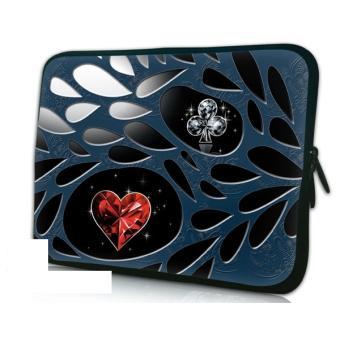 housse ordinateur portable 17 pouces trefle et carreau. Black Bedroom Furniture Sets. Home Design Ideas