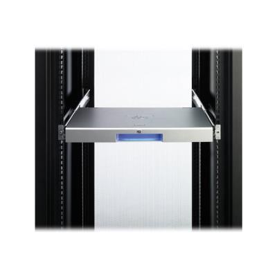Le clavier en rack 1U avec USB combine un clavier pleine largeur avec un nouveau pavé tactile dans un format 1U avec de la place pour monter un commutateur HP KVM derrière. Le clavier 1U comprend un pavé tactile à trois boutons avec une barre de défilemen