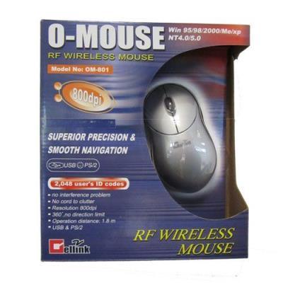 CELLINK SOURIS SANS FIL 800DPI GRISE BOX *OM-801* Quantité : 1 Modèle : O-Mouse Référence fabricant : O-Mouse Type : Personal Computers Fabricant : Cellink
