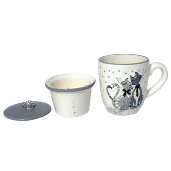 mug infuseur th couvercle ensemble tisani re chat achat prix fnac. Black Bedroom Furniture Sets. Home Design Ideas