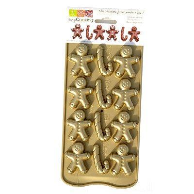 Image du produit ScrapCooking® - Moule à chocolat en silicone : Petit homme d´épices