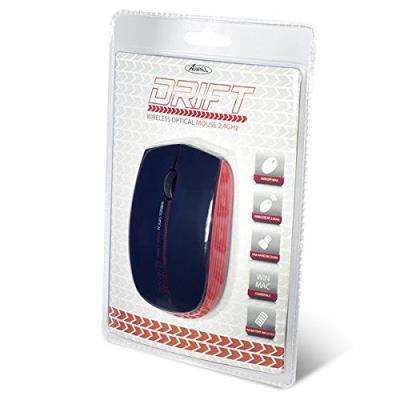 Souris - Advance DRIFT Mouse Rouge - Souris optique sans fil - Fabricant : Advance - Code EAN : 3700104425408 - Référence Fabricant : S-190RE Souris Optique sans-fil 2.4Ghz avec 3 boutons et une molette de défilement silencieuse Résolution : 1000 / 1200 /
