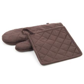 gant et manique de cuisine marron achat prix fnac. Black Bedroom Furniture Sets. Home Design Ideas