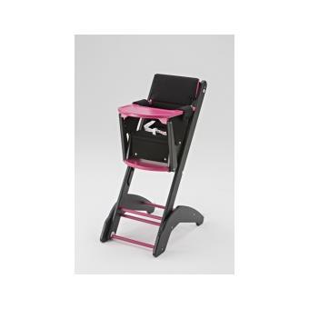 chaise haute twenty one evo noir fuchsia combelle achat prix fnac
