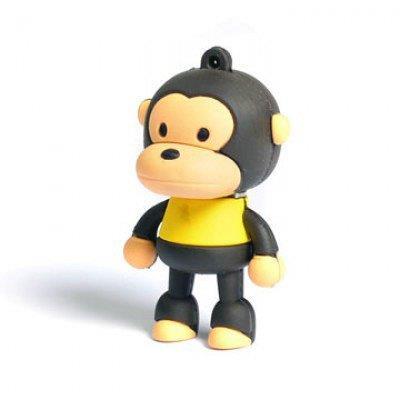 Ricco silicone Bébé Singe - 8 Go USB 2.0 Flash Memory Drive pour Windows et Mac OS Motif - jaune Couleur : - jaune