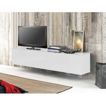 meuble tv suspendu acia 311 s laqu blanc achat prix. Black Bedroom Furniture Sets. Home Design Ideas
