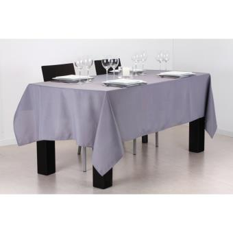 Nappe anti taches rectangulaire 140 x 240 cm gris - Nappe anti tache rectangulaire ...