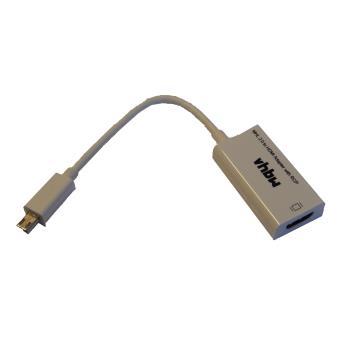 mp Adaptateur cable vhbw MHL  de Micro USB a HDMI pour la diffusion contenu HD votre Smartphone Tablette Samsung HTC Sony etc w