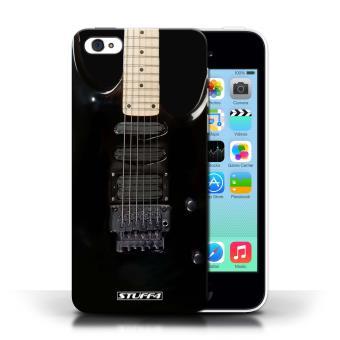 coque de stuff4 coque pour apple iphone 5c noir electrique design guitare collection. Black Bedroom Furniture Sets. Home Design Ideas