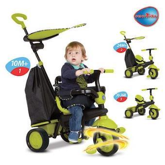smart trike smartrike delight tricycle evolutif vert. Black Bedroom Furniture Sets. Home Design Ideas