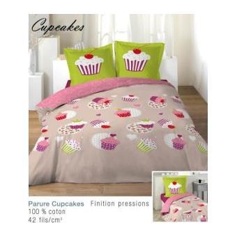housse de couette 140x200 cm cupcakes 1to achat prix fnac. Black Bedroom Furniture Sets. Home Design Ideas