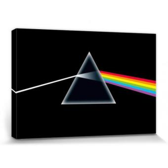 pink floyd poster reproduction sur toile tendue sur ch ssis dark side of the moon prisme. Black Bedroom Furniture Sets. Home Design Ideas