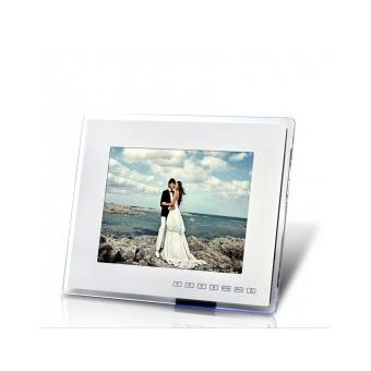 cadre photo numerique 12 pouces et lecteur multimedia blanc achat prix fnac