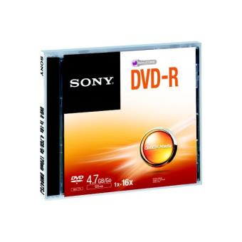 dvd vierges sony dvd r 4 7gb x5 achat prix fnac. Black Bedroom Furniture Sets. Home Design Ideas