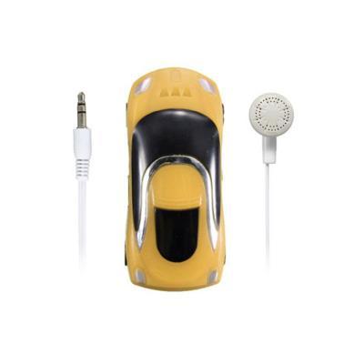 Mini mp3 lecteur de carte sd de la marque kowi - slot : micro carte sd jusquà 8 go. Petit mp3 en forme de voiture (5cm x 2,5cm). Livré avec carte de 8 gb et câble de charge et synchronisation. Kit piéton mains libres offert. Petit appareil tenant dans le